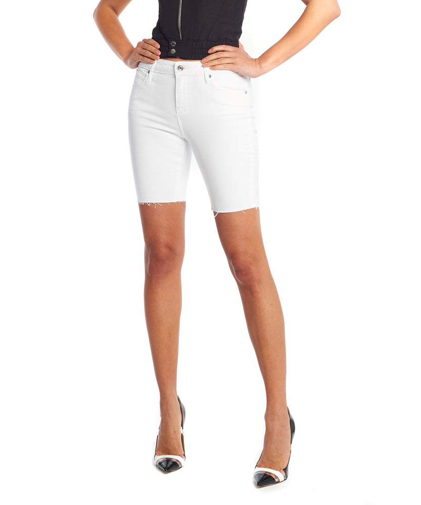 Rta Toure Women White Denim Shorts