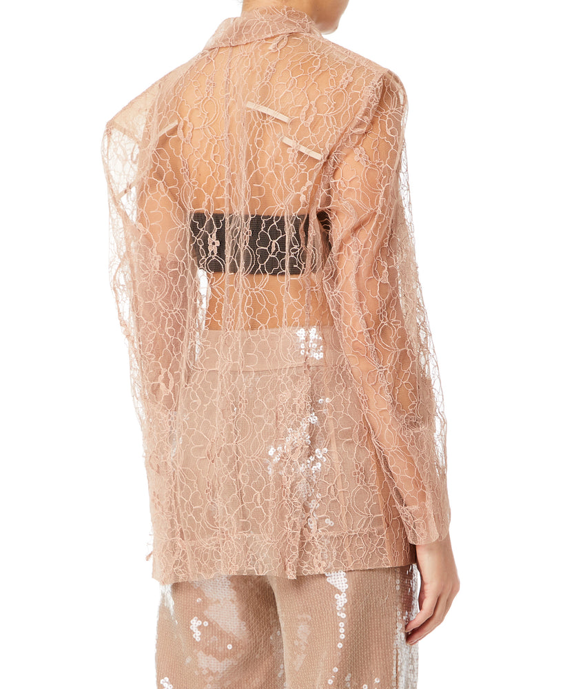 LACE JACKET NUDE