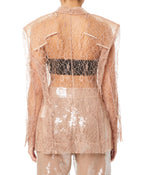 Ttswtrs Lace Women Nude Jacket
