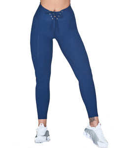 Year of Ours Ribbed Football Leggings Blue
