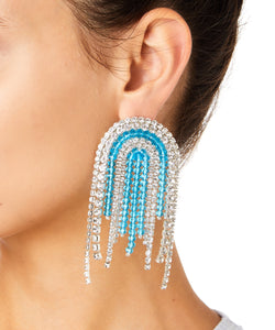 Zarqua Collection Tassel Women Blue and Turquoise Earrings