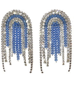 TASSEL EARRINGS IN BLUE