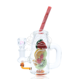 Fruity Detox Mini Rig Water Pipe with Flower Bowl