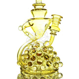 Apollo Fumed Recycler Water Pipe with Flower Bowl