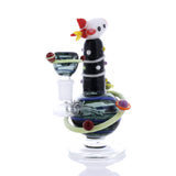 Rocket Ship Mini Water Pipe with Galaxy Flower Bowl