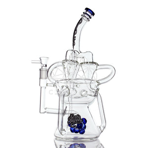 Hydra Triple Recycler Water Pipe with Flower Bowl