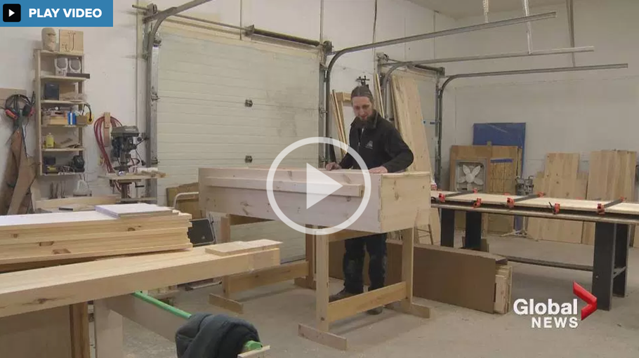 GLOBAL NEWS: Do-it-yourself casket kit adds life to NB woodworker's business