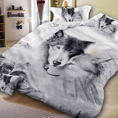 Wolf Printed  Bedding Set