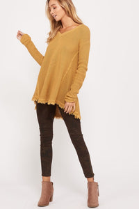 Frayed Hem Top