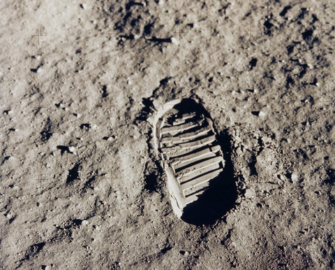 Bootprint on moon from NASA.gov
