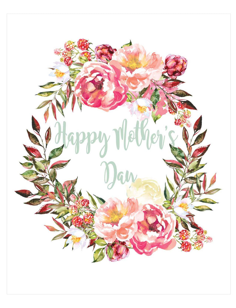 image relating to Happy Mothers Day Printable Card titled Pleased Moms Working day Printable Floral Banner, Card, Indicator Package