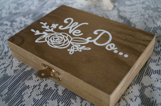 Mr. & Mrs. Ring Ceremony Box - Blushes & Blooms
