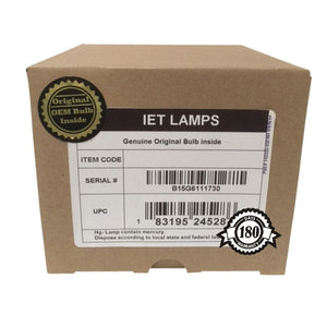 Genuine OEM Original Projector lamp for SHARP PG-D3750W, PG-D4010X, PG-D40W3D, PG-D45X3D