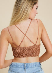Wishlist Scalloped Lace Bralette (Ginger)