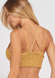Wishlist Scalloped Lace Bralette (Mustard)