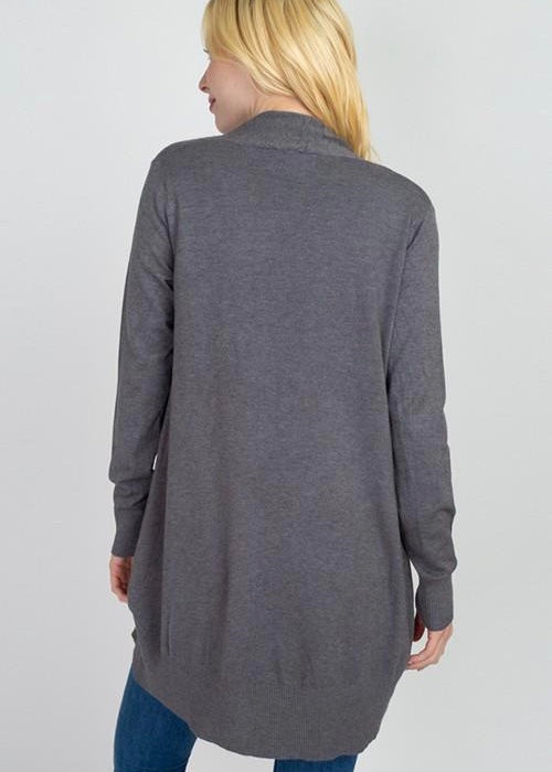Dreamy Lightweight Cardigan (Charcoal)