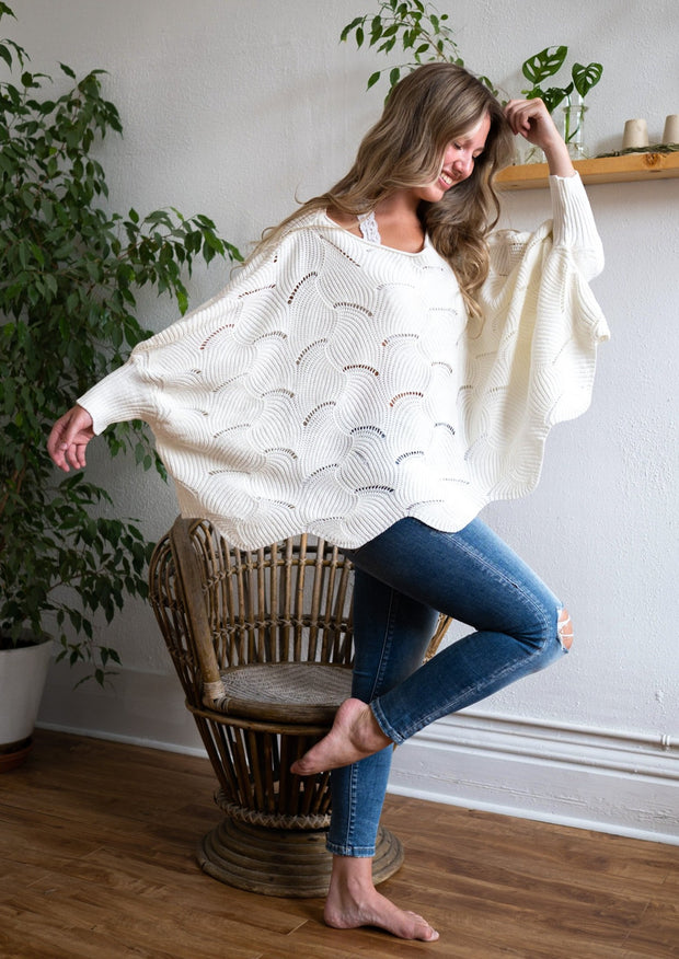 My Cozy Seashell Sweater (Ivory)