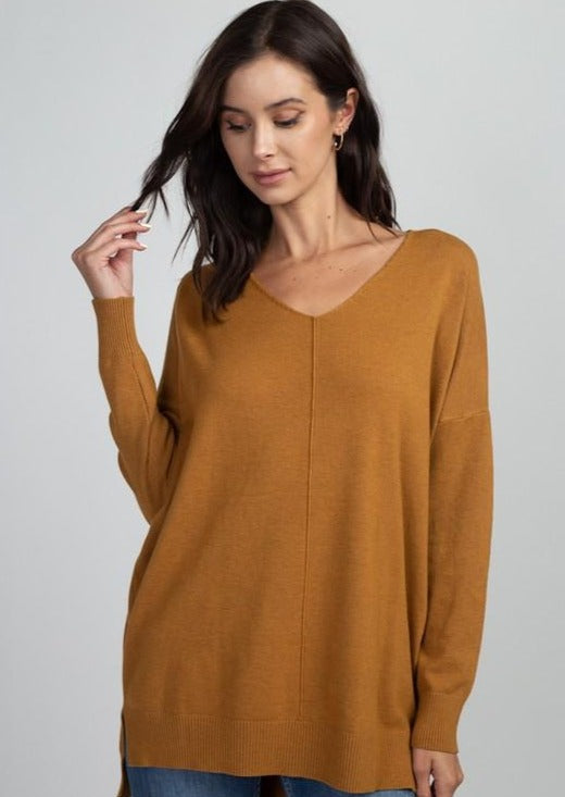Comfy As Can Be Sweater (Mustard)
