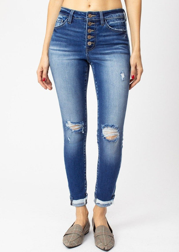 Kancan Gemma Button Jeans