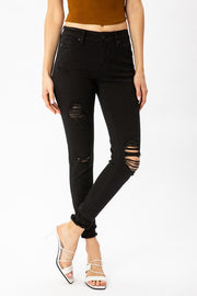 Kancan Black Distressed Skinny Jean