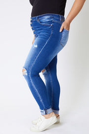 Kancan PLUS SIZE Gemma Button Jeans