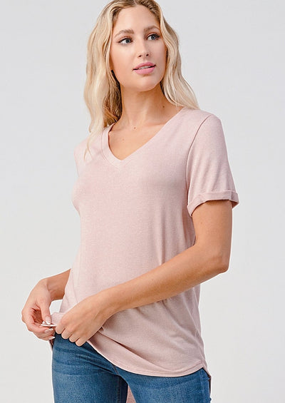 Natural Vibe Everyday Tee (Mineral Pink)