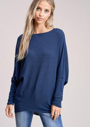 Jolie All Day Slouch Sweater (Navy)