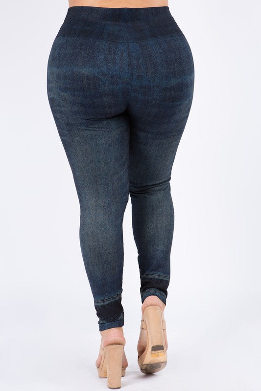 M Rena PLUS SIZE Denim Legging (Indigo)