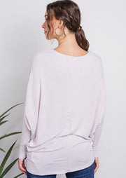 Jolie French Terry All Day Slouch Top (Modern Lilac)