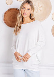 Jolie French Terry All Day Slouch Top (Ivory)