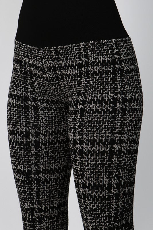 M Rena Jacquard Sweater Legging