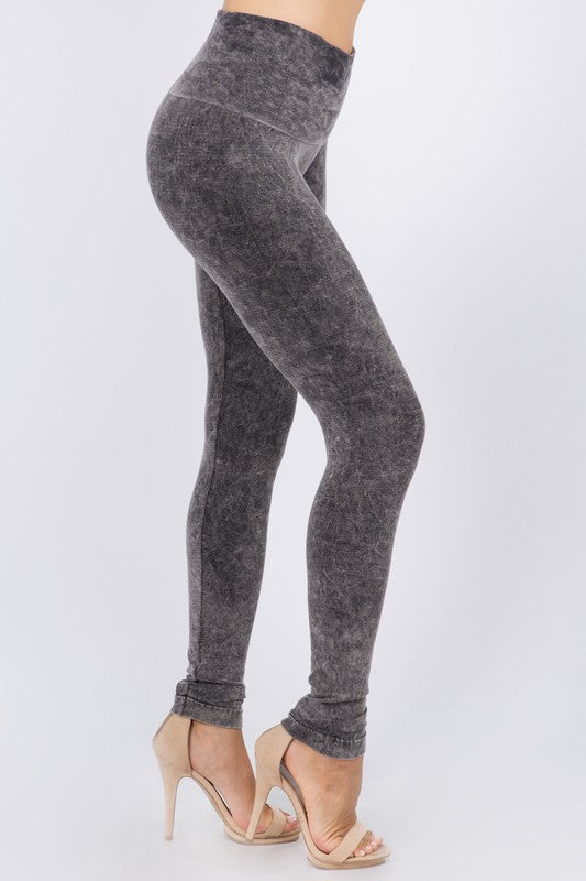 M Rena Mineral Wash Legging (Charcoal)