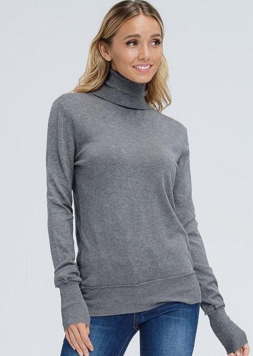 Jolie Perfect Layering Turtleneck (Charcoal)