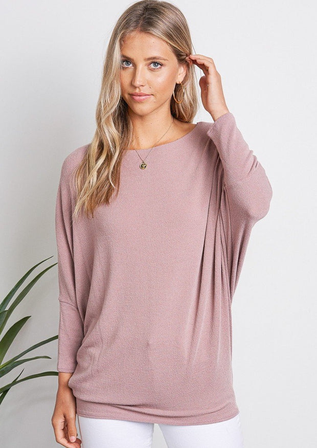 Jolie All Day Slouch Sweater (Mauve)