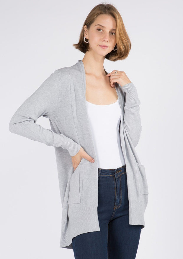 Dreamy Lightweight Cardigan (Silver)