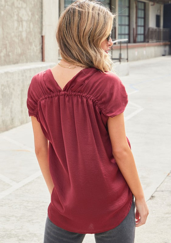 Lovestitch Holiday Satin Tee (Red)