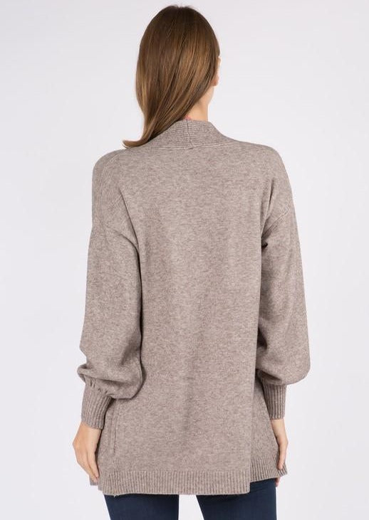 Dreamy Balloon Sleeve Cardigan (Mocha)
