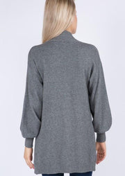 Dreamy Balloon Sleeve Cardigan (Charcoal)