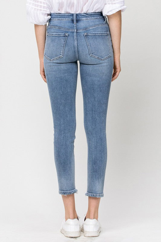 Flying Monkey Mid Rise Cropped Skinny