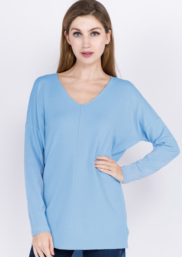 Comfy As Can Be Sweater (Sky Blue)