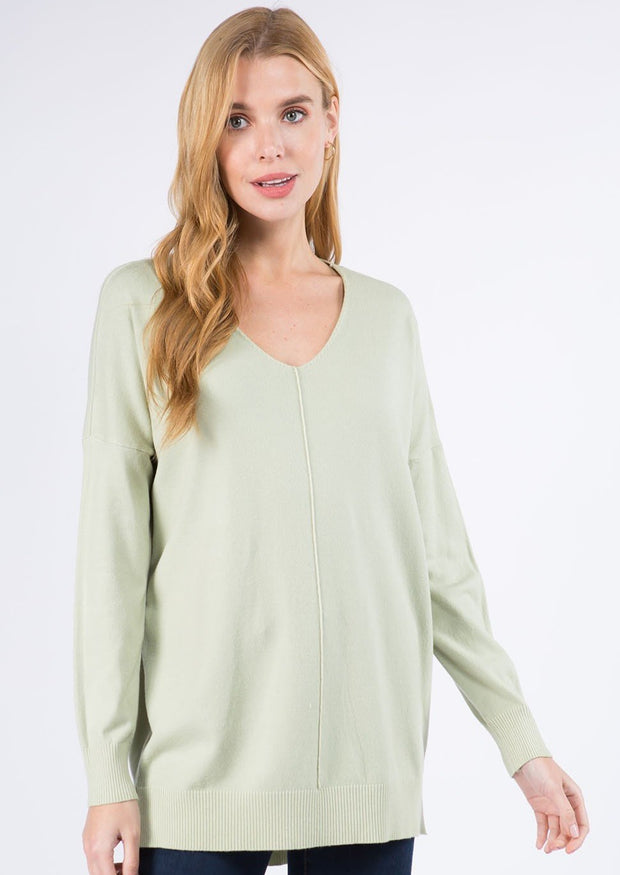 Comfy As Can Be Sweater (Pear)