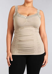 M Rena Lace Cami Plus Size (2 colours)