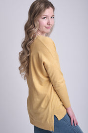 Dreamers Comfy As Can Be Sweater (Heather Yellow)