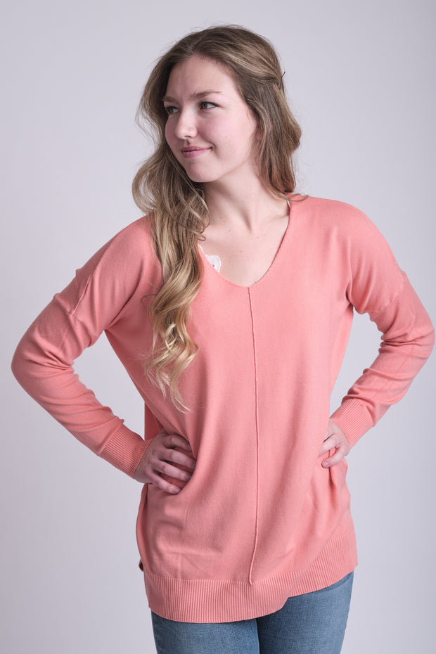 Dreamers Comfy As Can Be Sweater (Coral)