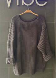 My Cozy Chunky Knit Sweater (Charcoal)
