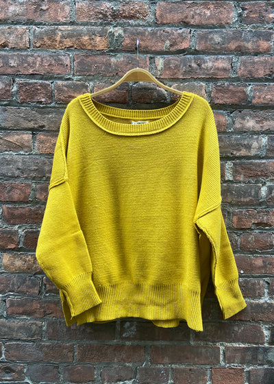 My Cozy Stay At Home Sweater (Mustard)