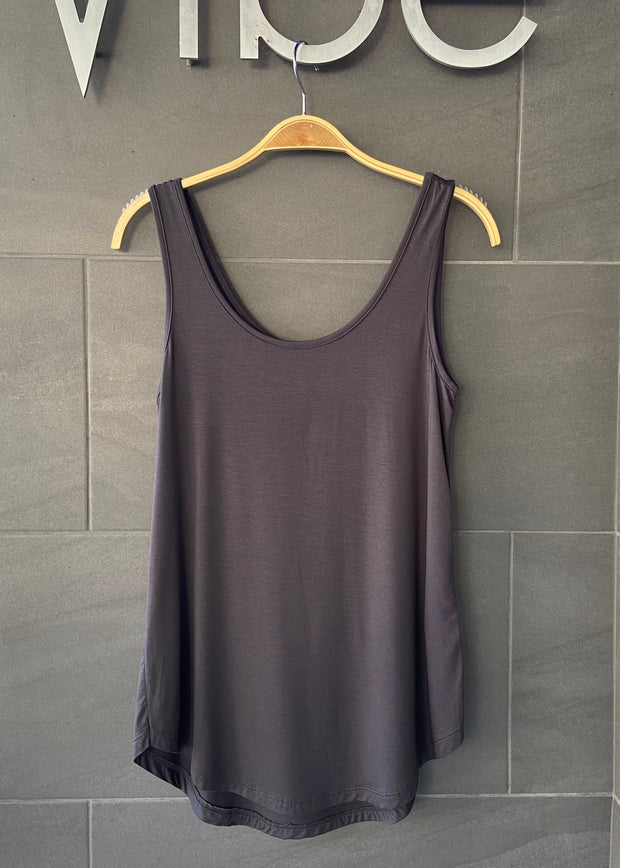 Emma's Closet Scoop Tank (Dark Grey)