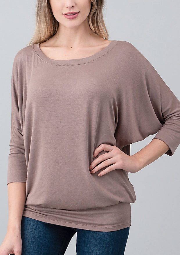 Natural Vibe Modal Round Neck Top (Natural)