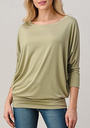 Natural Vibe Modal Round Neck Top (Vintage Sage)