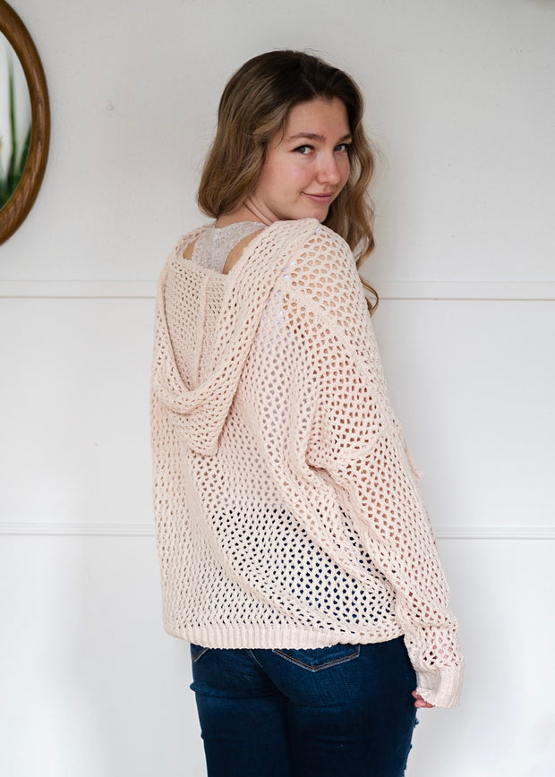 My Cozy Loose Knit Sweater (Beige)